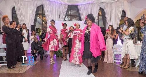 Breast cancer survivors opening the fashion show!